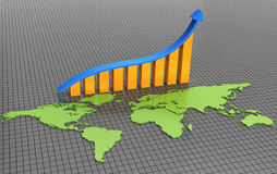prętowa biznesowa mapa Zdjęcie Stock