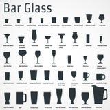 Prętowa szklana ikona Zdjęcia Stock