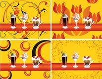 prętowego coffe f lodowy ilustracyjny holu wektor ilustracji