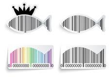 Prętowego kodu ryba etykietki set Obraz Royalty Free