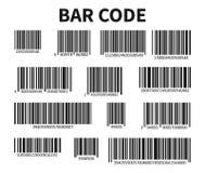 Prętowego kodu Ustalony wektor Ogólnoludzki produktu obrazu cyfrowego kod Fotografia Royalty Free