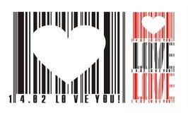 prętowego kodu valentines Obraz Stock