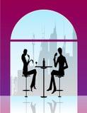 Prętowego restauracyjnego holu kawowa kobiet Ilustracja ve Fotografia Stock