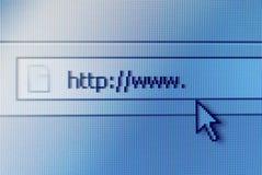 prętowy adresu ekran komputerowy Obrazy Royalty Free