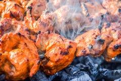 Prętowy b Q kurczak Zdjęcie Stock