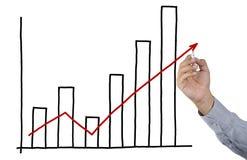 prętowy biznesmena rysunku wykres Fotografia Stock