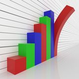 Prętowy graph Obraz Stock