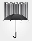 Prętowy kod i parasol Fotografia Royalty Free