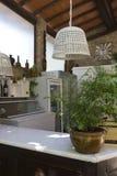 Prętowy kontuar restauracja na florentine wzgórzach Obrazy Stock