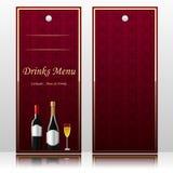 Prętowy menu dla napojów Ilustracji