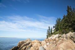 Prętowy schronienie w Acadia parku narodowym Zdjęcie Stock