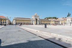 Praça делает Comercio в центре Лиссабона, Португалии Стоковое Изображение