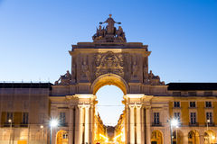 The Praça do Comércio (English: Commerce Square) is located in Royalty Free Stock Photos