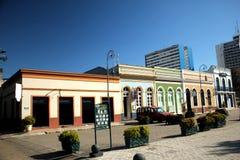 Praça do Congresso historisch centrum van Manaus - Brazilië stock afbeelding