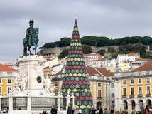 Praça faz Comércio Terreiro faz Paço em Lisboa, Portugal imagens de stock