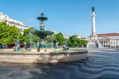 Praça Rossio ή DOM Pedro IV Praça στη Λισσαβώνα, Πορτογαλία Στοκ φωτογραφία με δικαίωμα ελεύθερης χρήσης