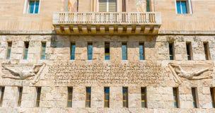 Praça Augusto Imperatore em Roma, Itália Imagem de Stock