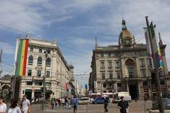 Praça Cordusio em Milão imagem de stock royalty free