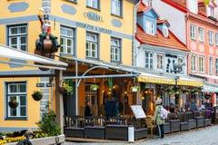 Praça da alimentação em Riga imagens de stock
