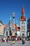 Praça da cidade de Munich Fotografia de Stock Royalty Free
