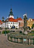 Praça da cidade de Pelhrimov Fotos de Stock