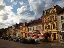 Praça da cidade de Starogard Gdanski Fotos de Stock