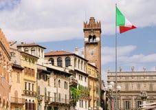 Praça da cidade de Verona Fotografia de Stock