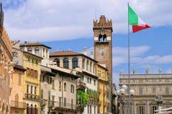 Praça da cidade de Verona Imagens de Stock Royalty Free