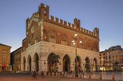 Praça da cidade do cavalli do dei da praça em Placência Imagens de Stock Royalty Free