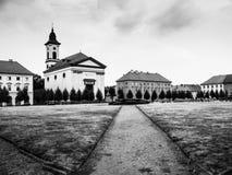 Praça da cidade em Terezin Foto de Stock Royalty Free