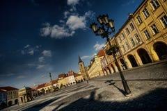 Praça da cidade histórica fotos de stock