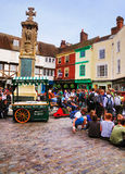 Praça da cidade inglesa, Canterbury Foto de Stock