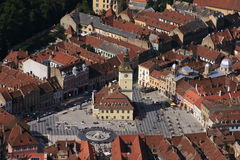 Praça da cidade medieval Imagem de Stock Royalty Free