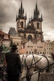 Praça da cidade medieval Fotografia de Stock Royalty Free