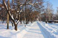 Praça da cidade no inverno Imagens de Stock Royalty Free