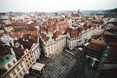 Praça da cidade velha de Praga, República Checa Fotografia de Stock