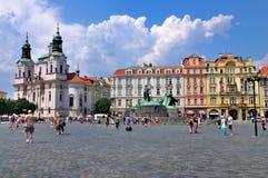 Praça da cidade velha, Praga Imagens de Stock