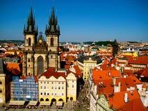 Praça da cidade velha, Praga, República Checa Fotografia de Stock Royalty Free