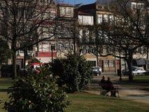 Praça da Republica Gardens Porto Royalty Free Stock Images