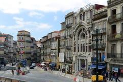 Praça de Almeida Garrett, Oporto, Portogallo Fotografia Stock Libera da Diritti