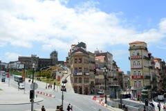 Praça de Almeida Garrett, Oporto, Portogallo Fotografia Stock