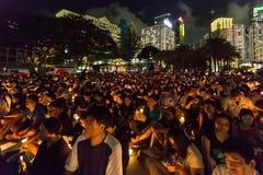 A Praça de Tiananmen protesta o evento em Hong Kong Imagens de Stock Royalty Free