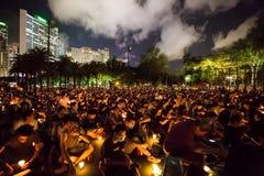 A Praça de Tiananmen protesta o evento em Hong Kong Imagens de Stock