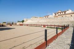 Praça de touros em Hita, Guadalajara, Espanha Foto de Stock