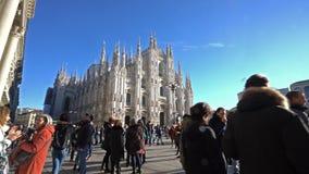 Praça del Domo em Milão filme