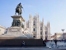 Praça del Domo, Milão, Itália fotos de stock royalty free