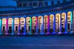 Praça del Plebiscito, Nápoles, Itália foto de stock royalty free
