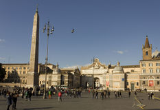 Praça del popolo em Roma Imagens de Stock