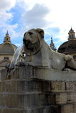Praça del Popolo em Roma, Italy Fotografia de Stock