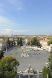 Praça del Popolo, Roma Fotografia de Stock